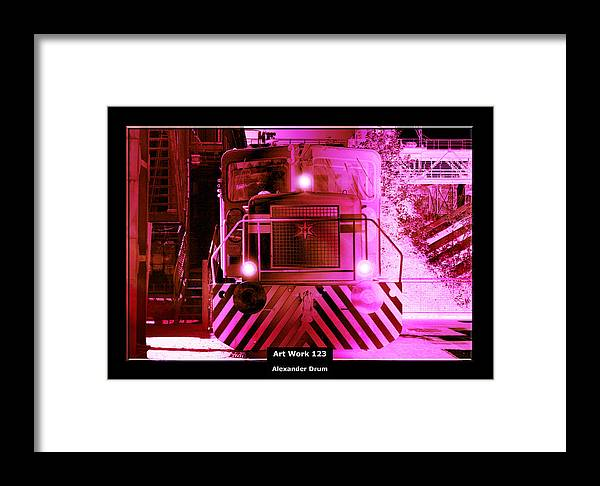 Loc Framed Print featuring the painting Art Work 123 Locomotive by Alexander Drum