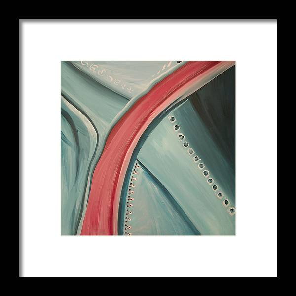 Abstract Framed Print featuring the painting Arterial by Marilyn Fenn