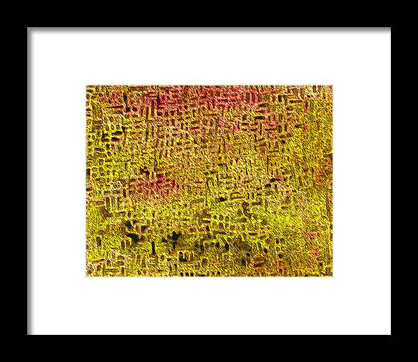 Abstract Framed Print featuring the digital art Artifact 1 by James Raynor
