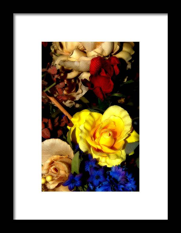 Floral Framed Print featuring the photograph Artificial Arrangement by Michele Embry