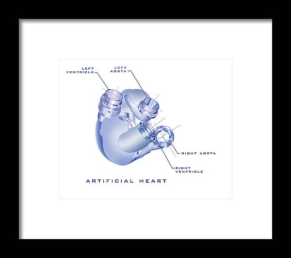 Sunrise Framed Print featuring the painting Artificial Heart by James Christopher Hill