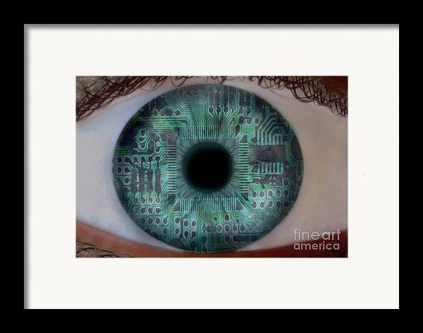 Horizontal Framed Print featuring the photograph Artificial Intelligence by Mike Agliolo