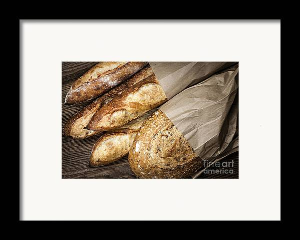 Bread Framed Print featuring the photograph Artisan Bread by Elena Elisseeva