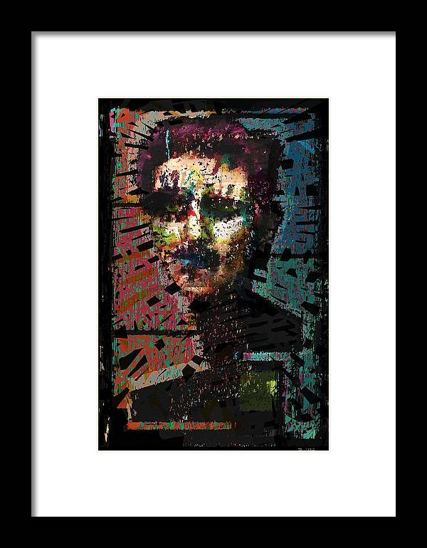 Artist As Self Portrait Framed Print featuring the painting Artist As Self Portrait. by Brett Sixtysix