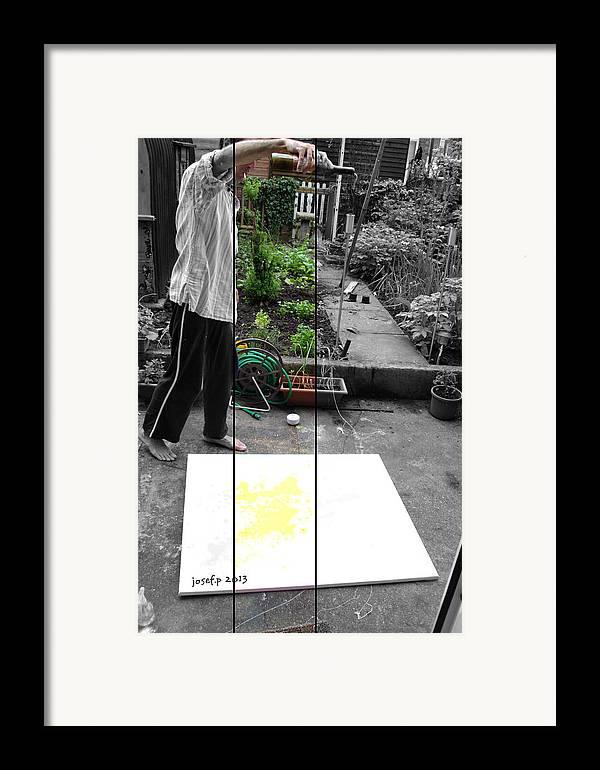 Artist Framed Print featuring the photograph Artist At Work Three by Sir Josef - Social Critic - Maha Art
