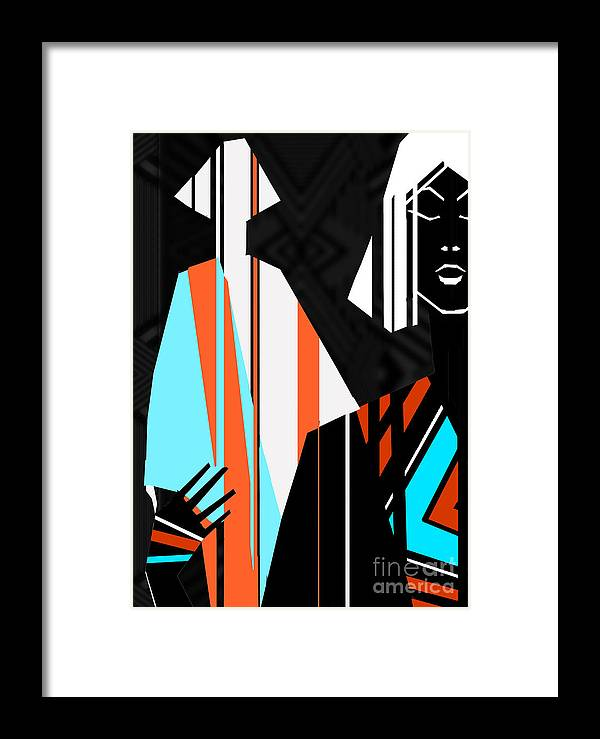 Dress Framed Print featuring the digital art Artistic Fashion Colorful Illustration by Alina Shakhovets