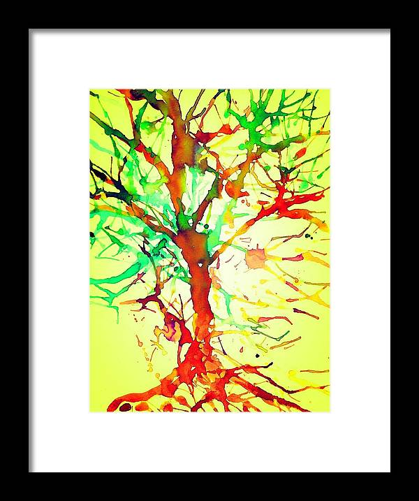 Color Framed Print featuring the mixed media Artistree by Joseph Ferguson