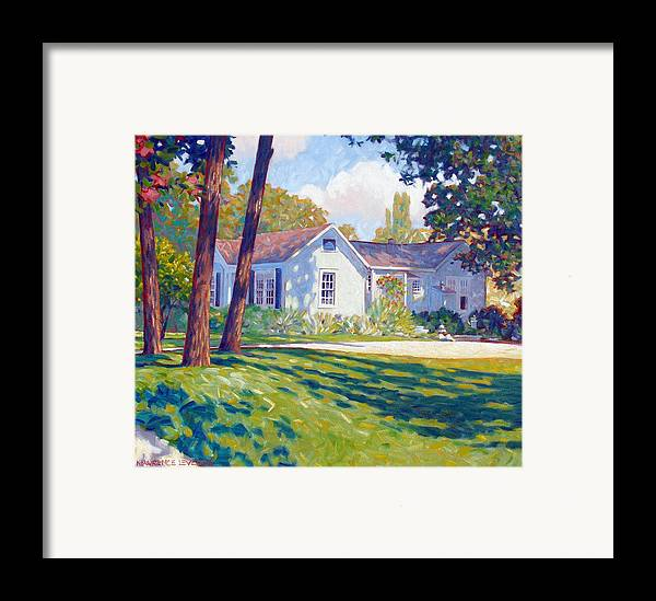 City Framed Print featuring the painting Artists Home by Kevin Lawrence Leveque