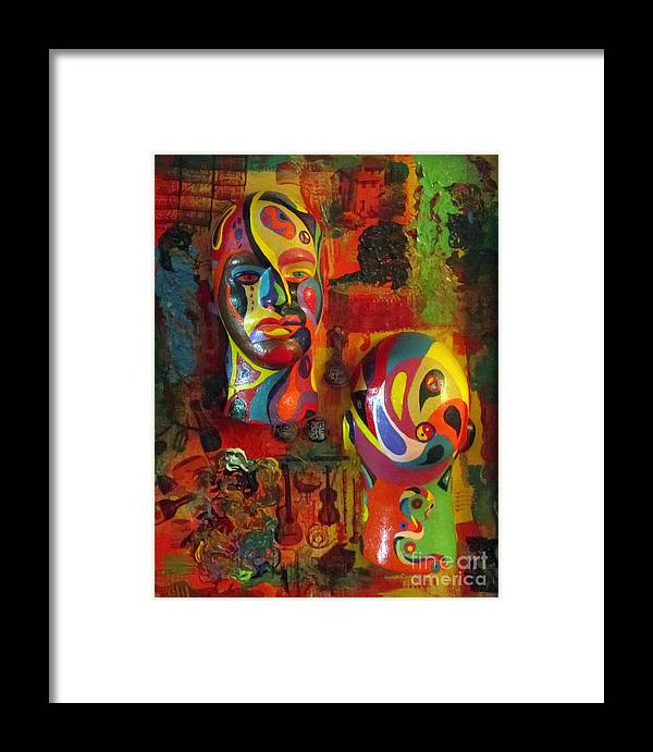 Colorful Framed Print featuring the painting Artist's Pleasures by Jeanne Ward