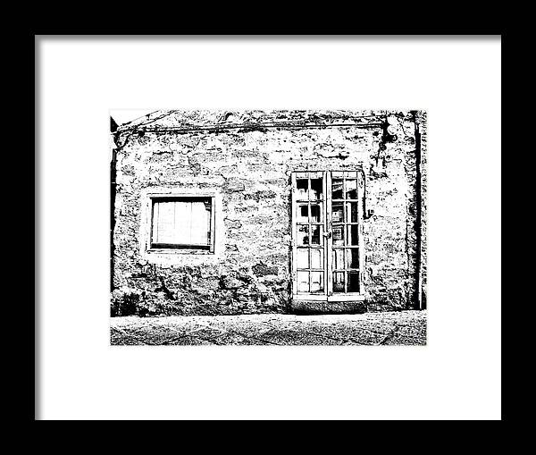 Arzachena Framed Print featuring the photograph Arzachena Shop by Giuseppe Cocco