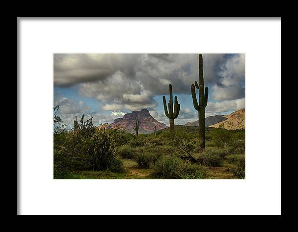 Arizona Framed Print featuring the photograph As The Clouds Pass By by Saija Lehtonen