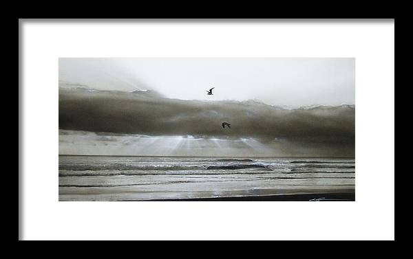 Ocean Framed Print featuring the painting Ascension II by Christian Chapman Art