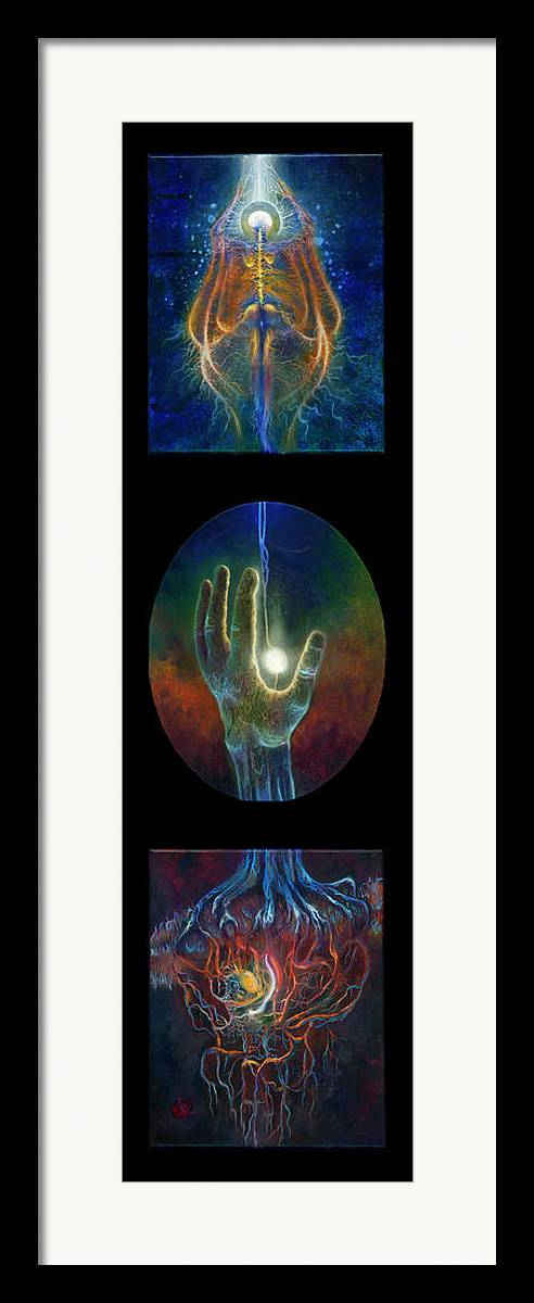 Dreams Framed Print featuring the painting Ascension Of The Soul by Kd Neeley