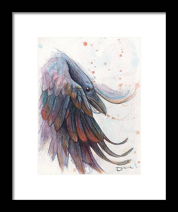 Raven Framed Print featuring the painting Ascension by Tahirih Goffic