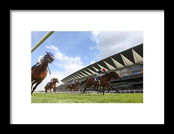 Ascot Racecourse Framed Print featuring the photograph Ascot Races by Charlie Crowhurst