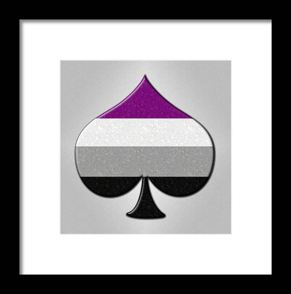 asexual ace symbol framed print by tavia starfire