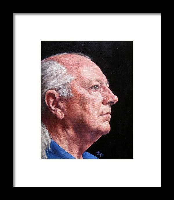 Portrait Framed Print featuring the painting Ashby's Portrait by Deborah Allison