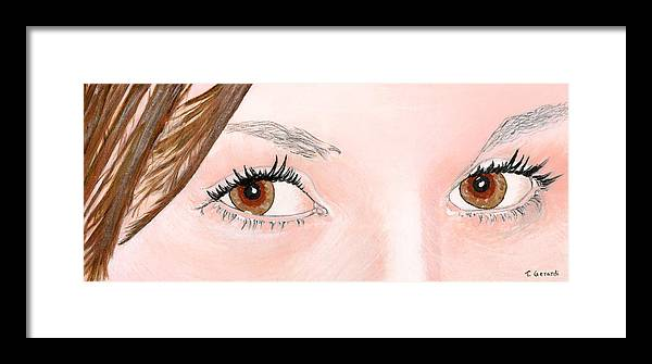 Eyes Framed Print featuring the painting Ashley's Eyes by Anthony Gerardi