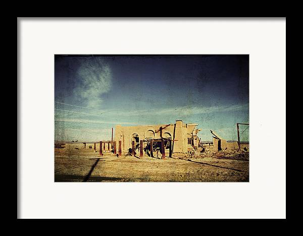 Dilapidated Framed Print featuring the photograph Ashes To Ashes by Laurie Search