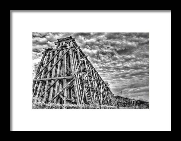 Black & White Framed Print featuring the photograph Ashland Ore Dock by Tom Winfield