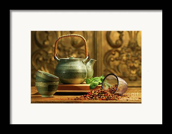 Asia Framed Print featuring the photograph Asian Herb Tea by Sandra Cunningham