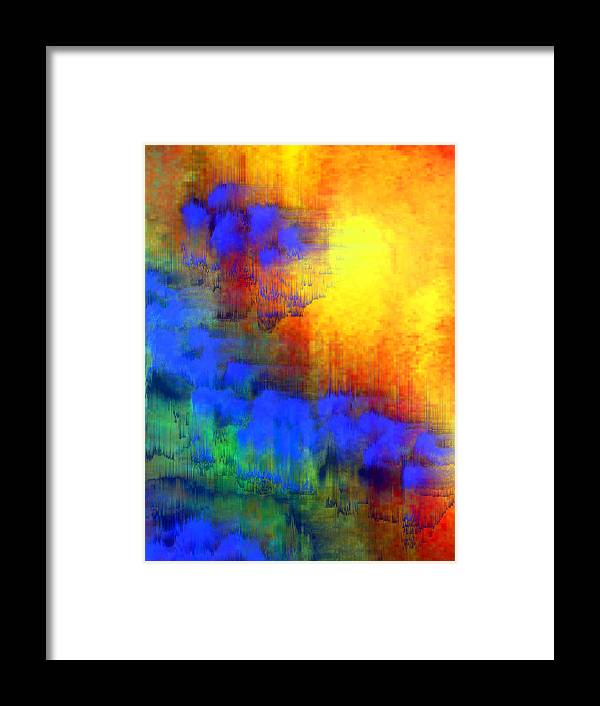 Abstract Framed Print featuring the digital art Asian Sunset by Bruce Shannahoff