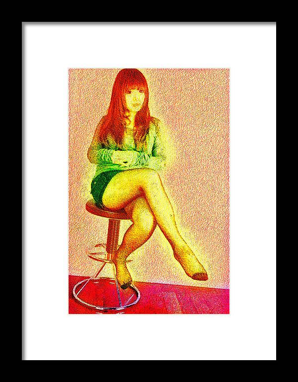 Lady Art 2012 Framed Print featuring the digital art Asiana by Karl Emsley