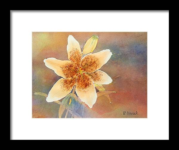 Lily Framed Print featuring the painting Asiatic Lily by Patricia Novack