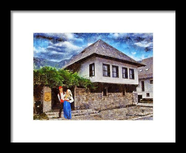 Asukovanje Framed Print featuring the painting Asikovanje by Ramo Sabanovic