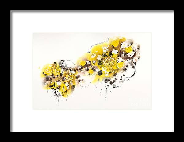 Aspens Framed Print featuring the painting Aspen Celebration #2 by Nadine Rippelmeyer