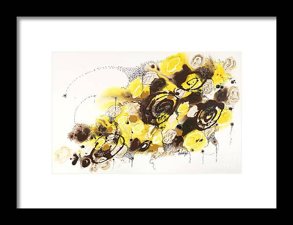 Aspen Framed Print featuring the painting Aspen Celebration #4 by Nadine Rippelmeyer