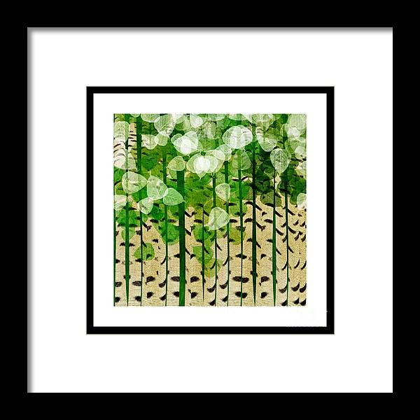 Abstract Framed Print featuring the digital art Aspen Colorado Abstract Square 2 by Andee Design