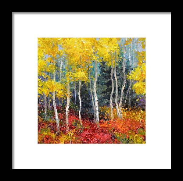 Wallis Framed Print featuring the painting Aspen No.2 by Eric Wallis