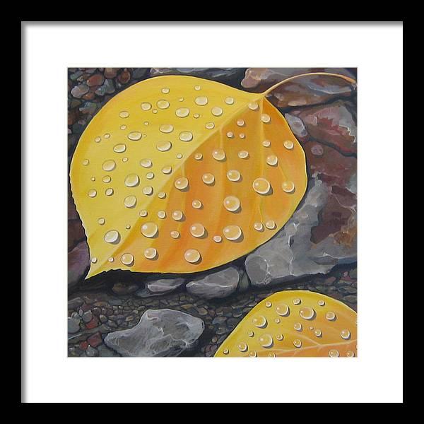 Aspen Framed Print featuring the painting Aspen Rain by Hunter Jay