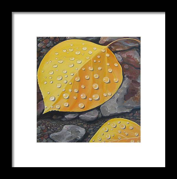 Aspen Framed Print featuring the painting Aspen Rain by Hunter Jay