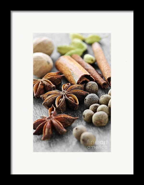 Spices Framed Print featuring the photograph Assorted Spices by Elena Elisseeva
