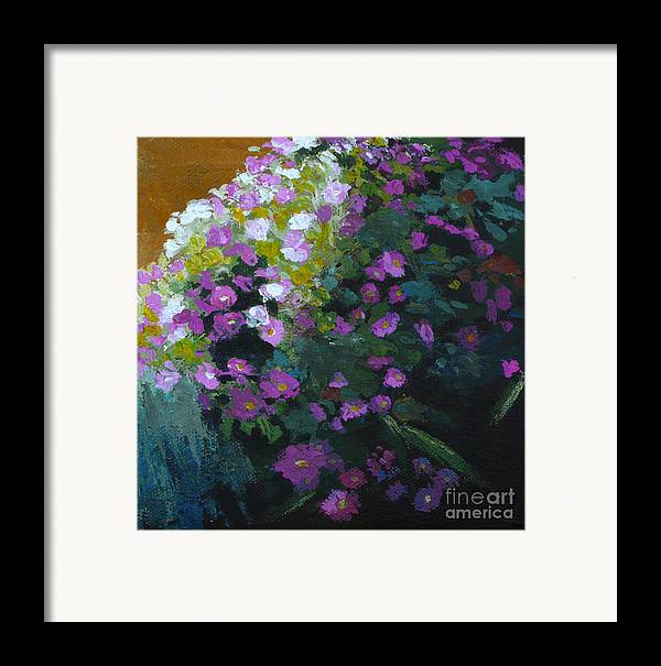 Contemporary Floral Painting Framed Print featuring the painting Asters by Melody Cleary