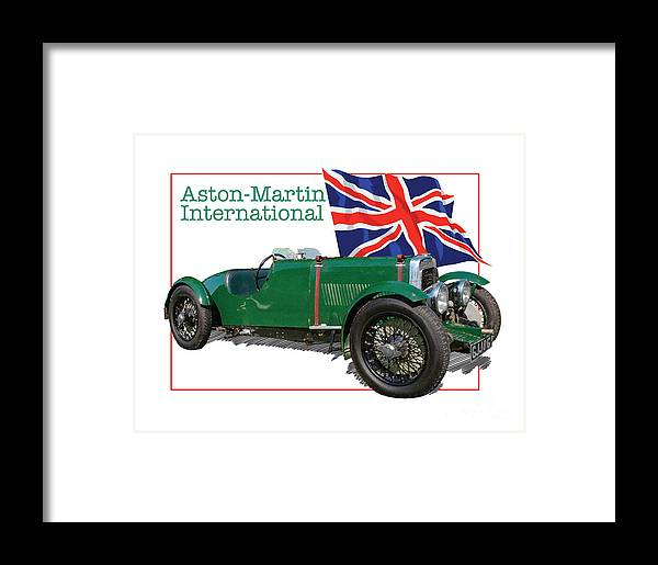 Classic Framed Print featuring the digital art Aston-martin International by Dan Knowler