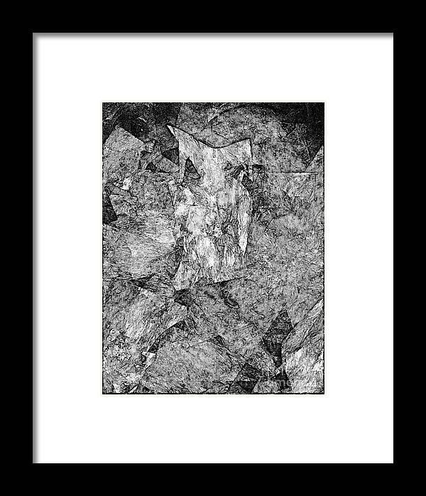 Graphics Framed Print featuring the digital art Astraction 0584 - Marucii by Marek Lutek
