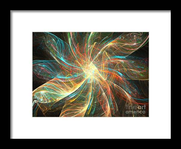 Apophysis Framed Print featuring the digital art Astral Flower by Kim Sy Ok