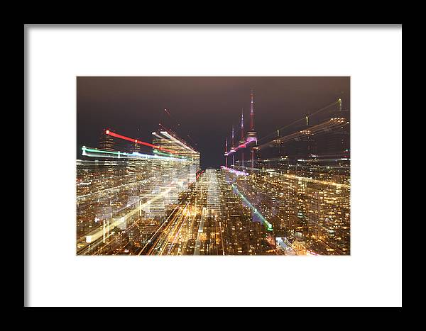 Toronto Framed Print featuring the photograph Astro Projection. Festivity Of Warp Speed Travel by Katrin Shumakov