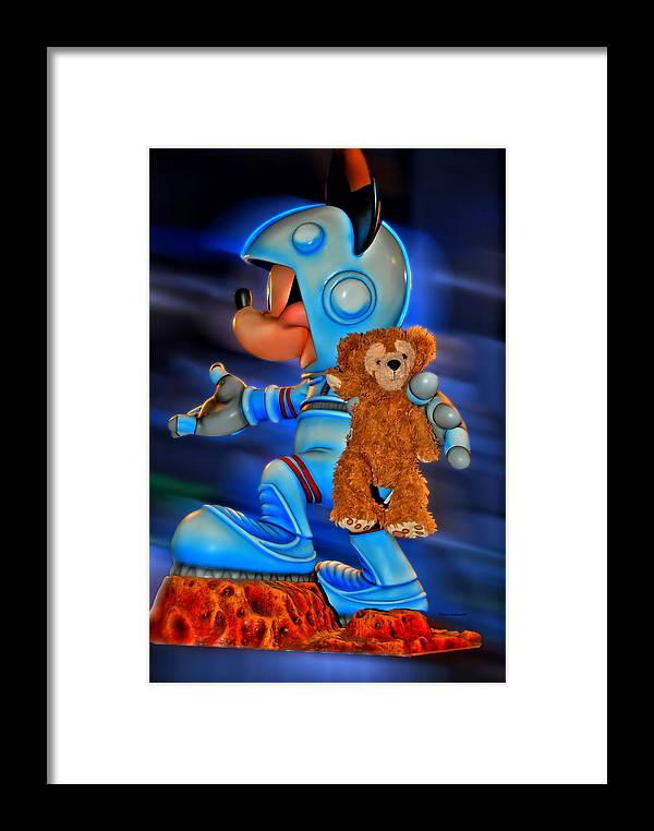 Fantasy Framed Print featuring the photograph Astronaut Training Bear by Thomas Woolworth