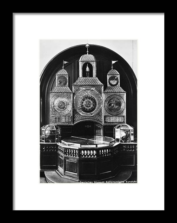 1750 Framed Print featuring the photograph Astronomical Clock, C1750 by Granger