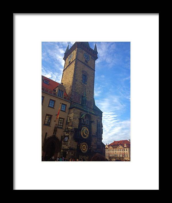 Color Framed Print featuring the photograph Astronomical Clock Of Prague by Hannah Rose