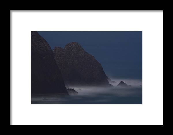 Astronomical Twilight Framed Print featuring the photograph Astronomical Twilight At San Pedro Point by Scott Lenhart