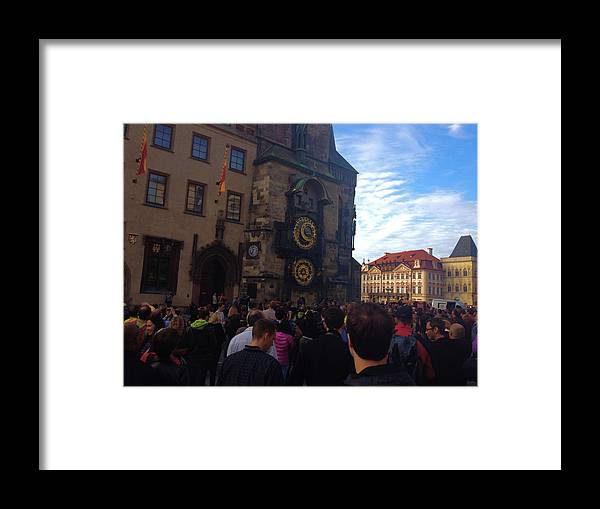 Color Framed Print featuring the photograph Astronomocal Clock Of Prague II by Hannah Rose