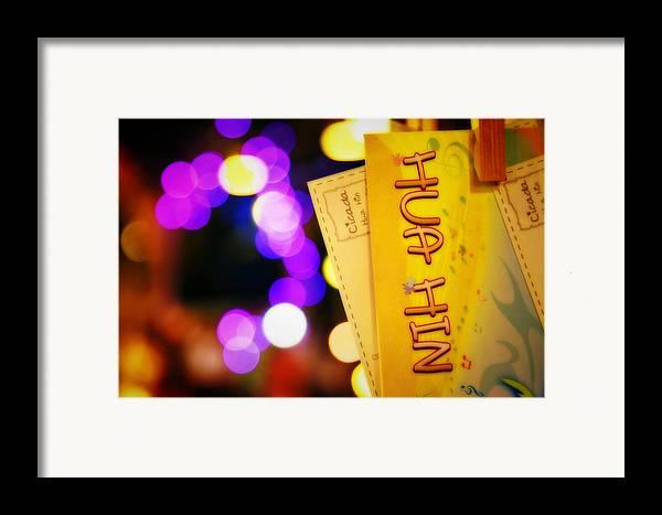 Cicada Framed Print featuring the photograph At Cicada Market Huahin by Suradej Chuephanich