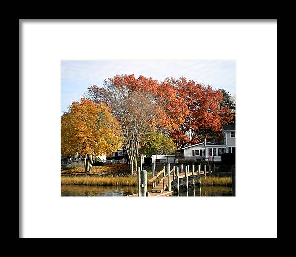 Wickford Harbor Framed Print featuring the photograph At Home On The Harbor by Kate Gallagher