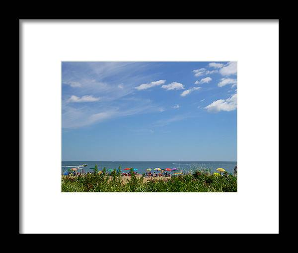 Summer Framed Print featuring the photograph At The Beach 2 by Ellen Paull
