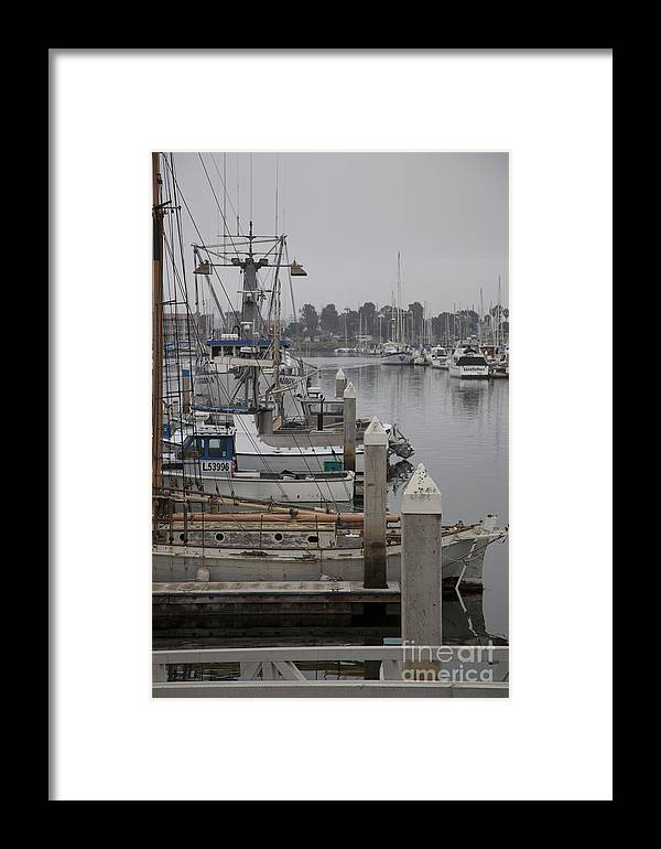 Dock Framed Print featuring the photograph At The Dock by Amanda Barcon